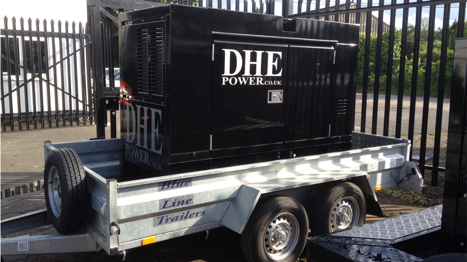 Suffolk Stage Hire 60KVA Ultra Silent Road Towable Diesel Generator